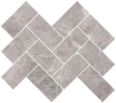 Мозаика Marmori Шеврон Холодный Греж (5*10) 31,5х28