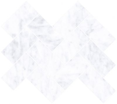 Мозаика Marmori Шеврон Каррара Белый (5*10) 31,5х28